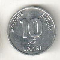 Мальдивы 10 лаари 2012