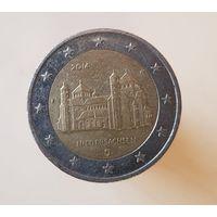 2 евро 2014 Германия Федеральные земли Церковь Св. Михаэля F
