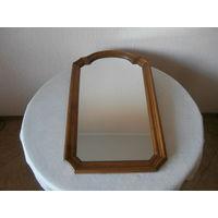 Зеркало деревянная рама из дуба Германия 48.5 х 78.5 см.