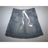 Модная джинсовая юбочка H&M, р.116