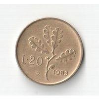 20 лир 1983 Италия KM# 97.2