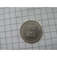 Венесуэла 25 сантим 1965г.
