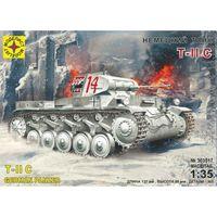 Немецкий танк Т II C, сборная модель 1/35 МОДЕЛИСТ 303517
