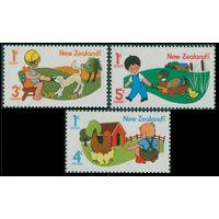 1975 Новая Зеландия 661-663 Животные и дети