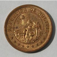 Скидка ! Боливия, 1 Боливианo 1951 СОХРАН! (98)
