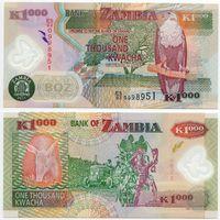 Замбия. 1000 квача (образца 2011 года, P44h, UNC)