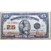 25 центов 1923г.