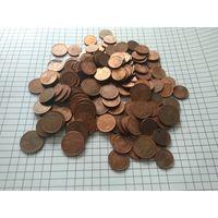 Монеты евро:1,2и5-ть центов.Кол-во монет 151-на шт.