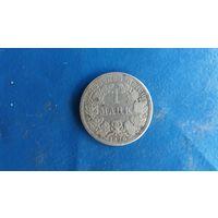 1 марка Вильгельма 1.  1876 г.(A)