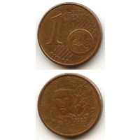 Франция 1 евроцент 2005 г.