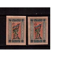 Азербайджан-1920 (Мих.2у) * , (сдвиг крас.цвета) Гражданская война