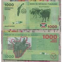 Распродажа коллекции. Бурунди. 1 000 франков 2015 года (P-51a - 2015-2018 Issue)