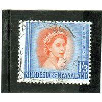 Родезия и Ньясаленд. Ми-11. Королева Елизавета II. 1954.