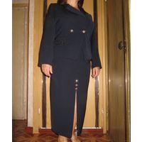 Стильный костюм как Новый! 1 раз одет. Размер 48-50. Цвет темно-синий.
