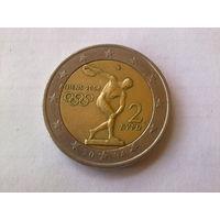 Греция 2 евро, 2004г. XXVIII летние Олимпийские Игры, Афины 2004
