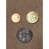 Бутан набор 3 монеты 1979 UNС