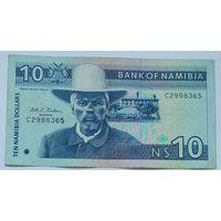Намибия 10 Долларов 1993, XF, 631