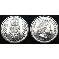 W: Новая Зеландия 20 центов 2006 (65)
