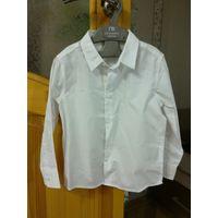Детская белая рубашка на утренник 104 размер