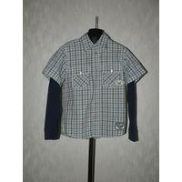 Стильная Рубашка-майка 2-в-1.Произведена в Германии.Высокое  качество