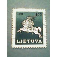 Литва. Рейтар. 1991г. ;гашеная
