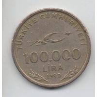 ТУРЕЦКАЯ  РЕСПУБЛИКА 100000 ЛИР 1999. 75 лет республике