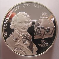 Вануату. 50 вату 1994. Граф де Бугенвиль. Серебро (266)