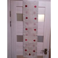 Дорожка-скатерть на Рождественский стол, лён, 170х30 см.