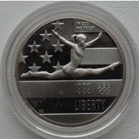 США 1/2 доллар 1992 года. Гимнастика. Оригинальная капсула! Пруф! Идеальное состояние!