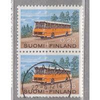 Автомобили автобус Финляндия 1971 год лот 4 Сцепка ЧИСТАЯ и гашеная менее 50% то каталога можно раздельно