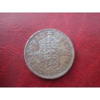 1 шиллинг 1960 год Великобритания