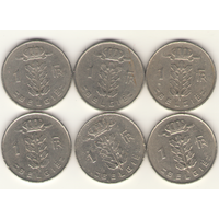 1 франк 1950, 1966, 1969, 1975 г. E.