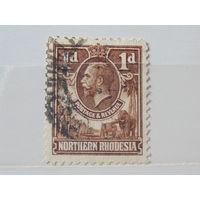 Северная Родезия 1925 г. Король Георг -V.