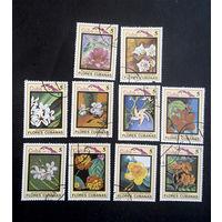 Куба 1983 г. Флора Кубы (Flores Cubanas), 10 марок #0004-Ф1