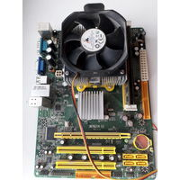 Материнская плата + процессор + память (в сборке)
