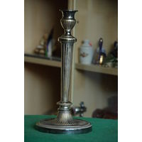 Подсвечник латунь с серебрением 29,5 см