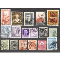 Сборный  лот  старых  марок  Европы