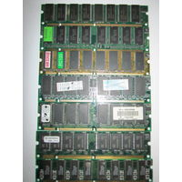SDRAM DIMM 7 планок из них 4 двусторонние подходят для P1