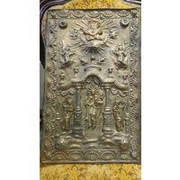 Большая накладка на церковную книгу. Бронза, XIX век. 41х39.