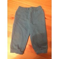 Синие хлопковые штаны на рост 68 см. Очень клевые, в отличном состоянии. Длина 37 см, ПОталии 20 - 25 см(отлично тянется).