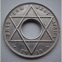 """Британская Западная Африка. 1/10 пенни 1933 год KM#7 """"Король Георг V"""""""