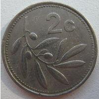 Мальта 2 цента 1991 г. (g3)