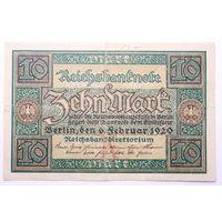 Германия 10 Марок 1920 год.