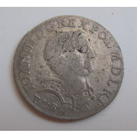 6 грошей 1683 TLB Ян Собесский в рыцарских латах.герб Лелива.