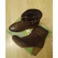 Полусапожки ботинки женские кожаные