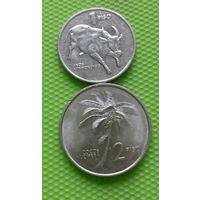 Филиппины 1, 2 песо 1991 набор из 2 монет (малые)