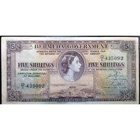 Бермуды, 5 шиллингов 1957 год, Р18