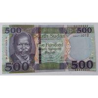 Южный судан. 500 фунтов 2018 года UNC