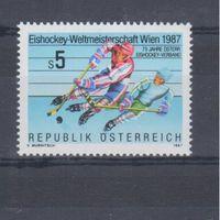 [1454] Австрия 1987.Спорт.Хоккей.