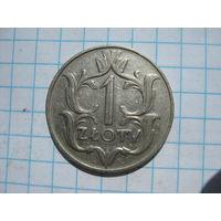 1 злотый Польша 1939 г. никель
